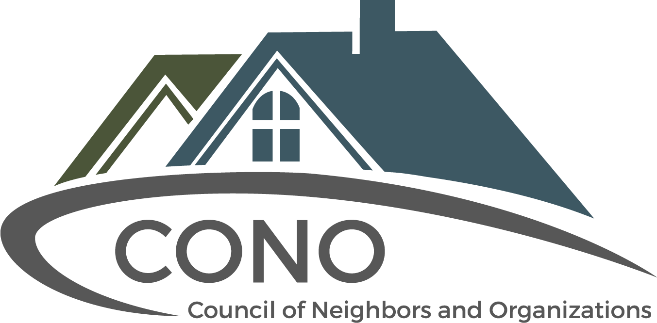 Council of Neighbors and Organizations (CONO) logo